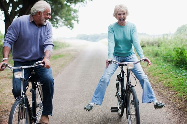 Image result for old people on bike