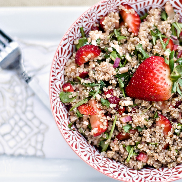 Delicious Strawberry Quinoa Salad!