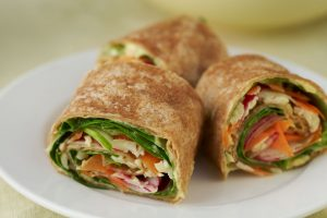 Quick and Healthy Lunch Wrap (Vegetarian)