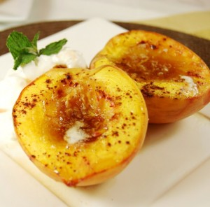 A New Dessert; baked peaches and apples