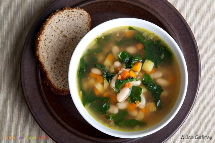Black-Eyed Pea and Collard Green (or Kale) Soup