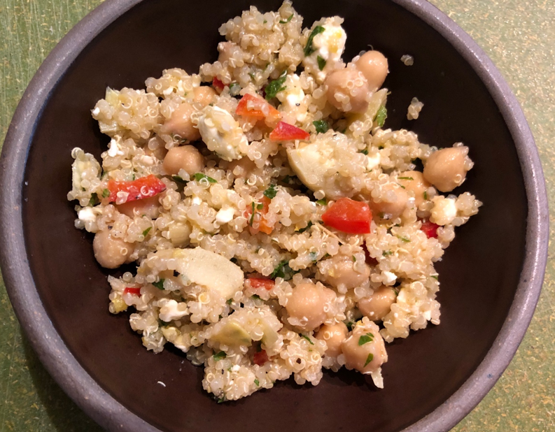 Easy Side Item: Lemon Artichoke and Quinoa Salad
