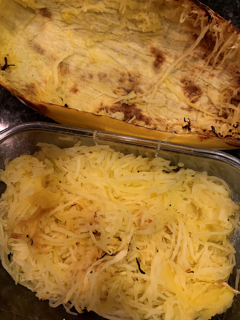 air fried spaghetti squash