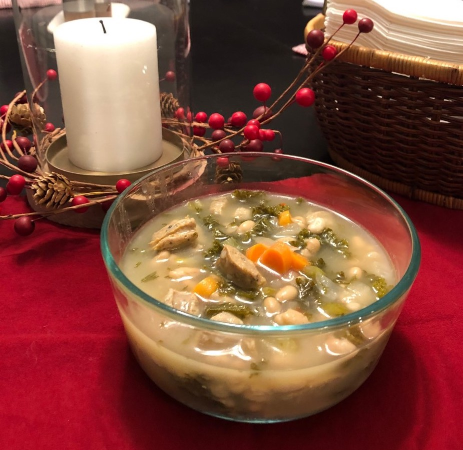 Our new favorite soup: Healthy and Creamy White Bean, Lemon, and Kale Soup