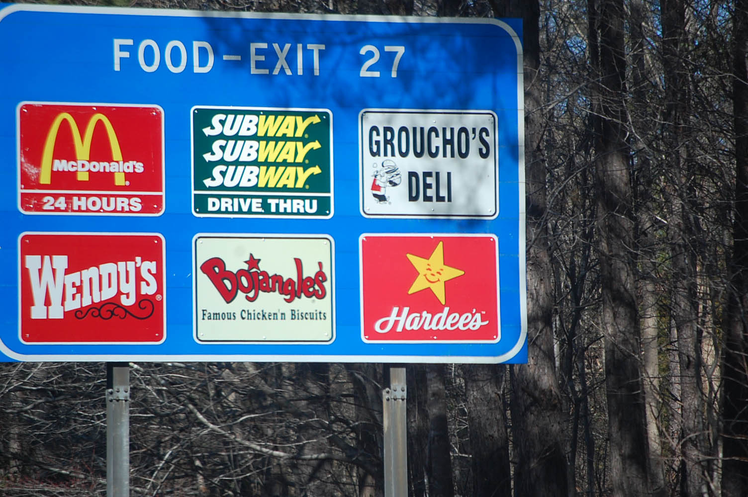Is there anything to eat on the highway that is healthy?