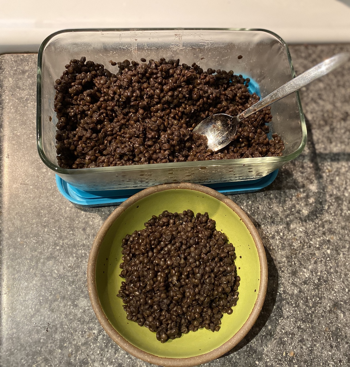 Perfect Black Lentils in the Instant Pot