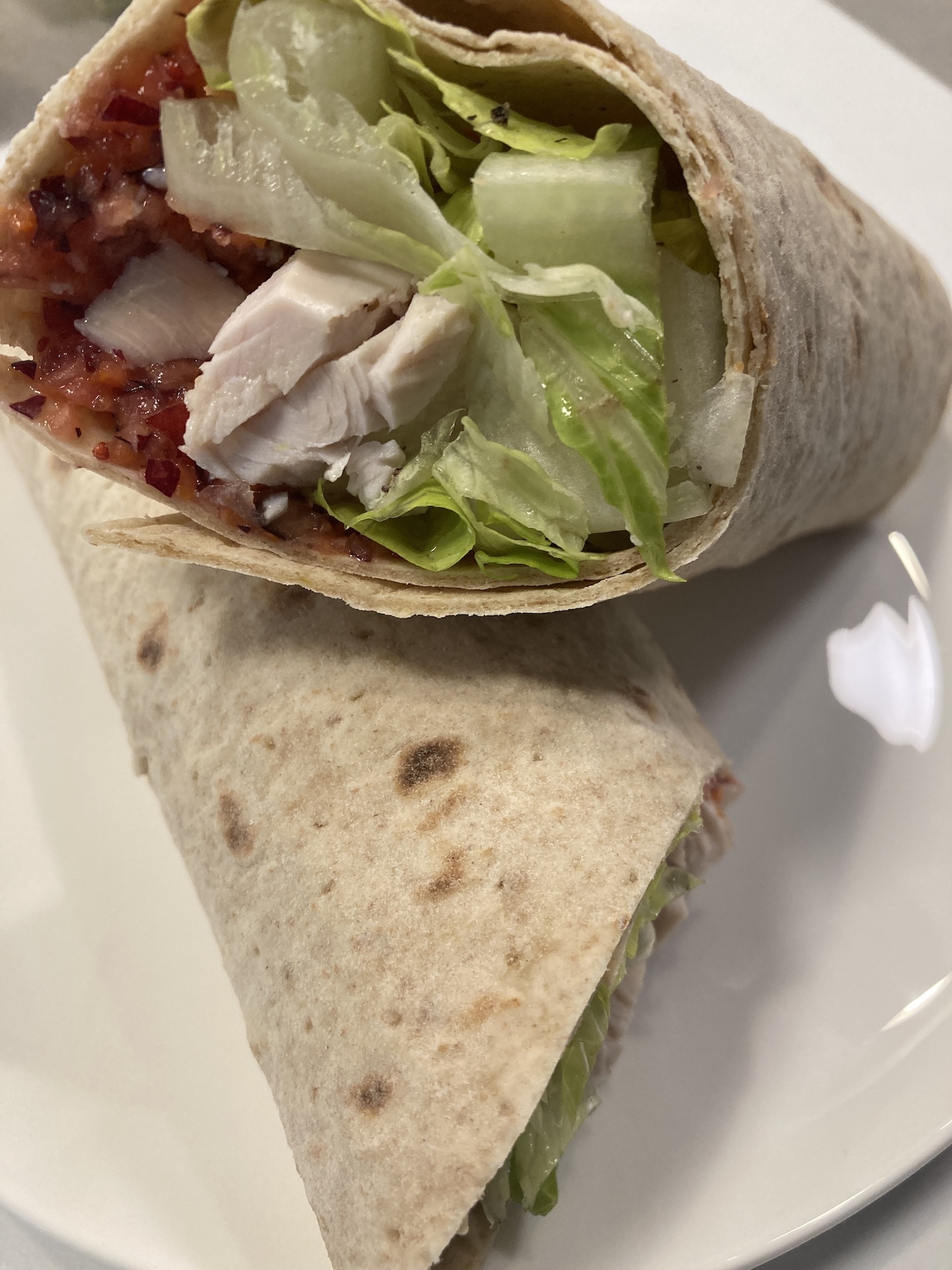 Leftover Turkey Sandwich or Wrap
