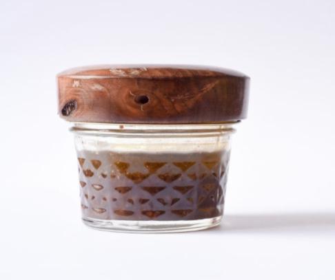 Dijon vinaigrette in jar